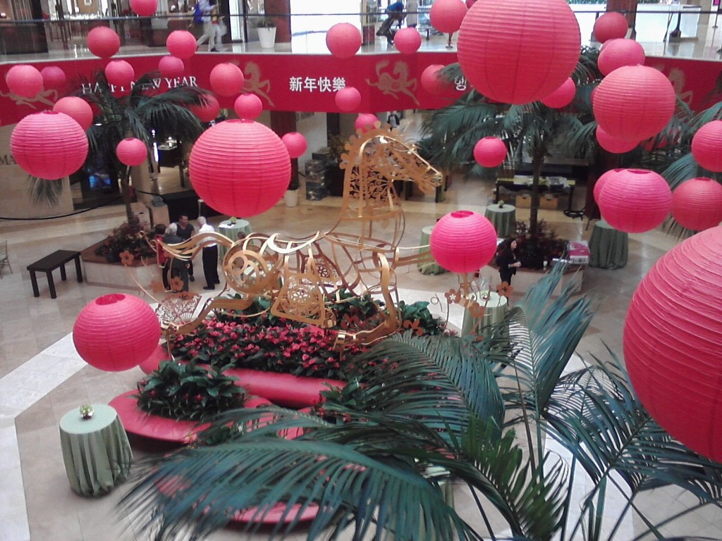 "South Coast Plaza's ""Year of the Horse"" Display: Golden Horse"